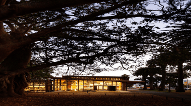 Coffey Education and Arts Property Award – Excellence architecture, branch, building, evening, house, leaf, lighting, morning, night, plant, sky, sunlight, tree, woody plant, black