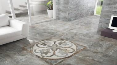 Frost thrill tile la fabbrica lounge floor and flagstone, floor, flooring, living room, tile, gray