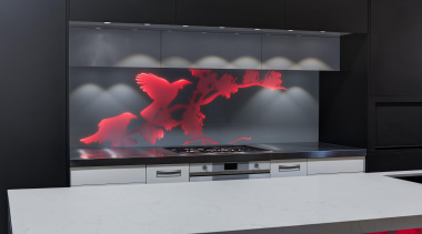 Every kitchen needs a hero and a vibrant display device, flat panel display, interior design, lcd tv, product design, screen, technology, black, gray