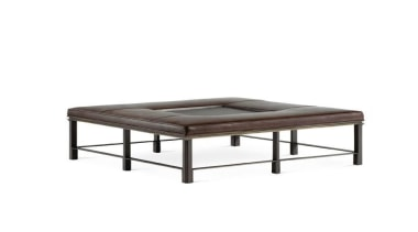 The work of William Sofield is defined not coffee table, couch, furniture, ottoman, outdoor furniture, product, product design, table, white