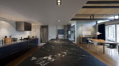 Granite island honed and enhanced - Notte Cielo- architecture, ceiling, floor, interior design, loft, real estate, gray, black