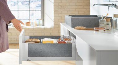 LEGRABOX free - Box System - countertop   countertop, furniture, kitchen, product design, sink, table, tap, white, gray