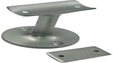 Solid BrassSuits Square and Round RailsFixings SuppliedSatin Chrome hardware, product, product design, white, gray