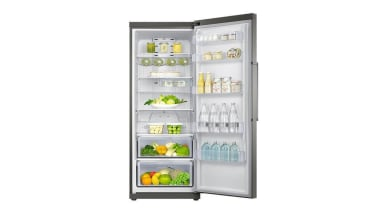 Refrigerator - One Door SRP361RSThis new one door home appliance, kitchen appliance, major appliance, product, product design, refrigerator, white