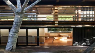 glade housenorth close up 7 of 7.jpg - architecture, home, house, interior design, window, wood, black