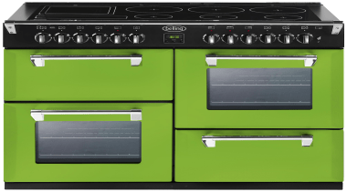 Belling Richmond oven in Rolling Countryside colourway gas stove, home appliance, kitchen appliance, major appliance, product, green, black