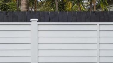 theblock2014089.jpg - theblock2014089.jpg - facade | fence | facade, fence, home fencing, line, outdoor structure, picket fence, siding, wall, white