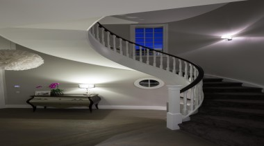 Img9032 - architecture   ceiling   daylighting   architecture, ceiling, daylighting, handrail, home, house, interior design, light, lighting, product design, stairs, black, gray