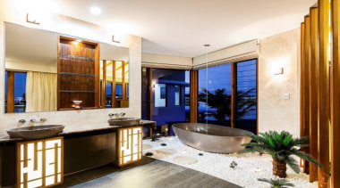 Winner Bathroom of the Year Queensland 2013 by bathroom, countertop, estate, interior design, property, real estate, room, white, brown