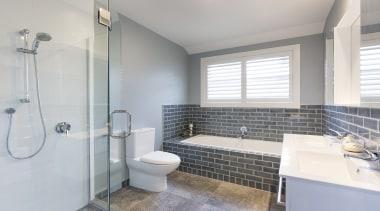 Landmark Homes The Maxwell Design  Bathroom - bathroom, home, property, real estate, room, window, gray