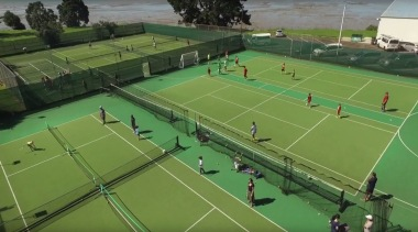 Sport - artificial turf | ball game | artificial turf, ball game, competition event, grass, leisure, net, racquet sport, sport venue, sports, structure, tennis, tennis court, tournament, green
