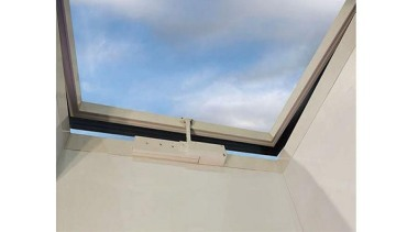 Windowmakers roof windows and skylights provide an ideal angle, daylighting, property, roof, sky, window, white, gray