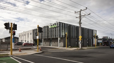 Fagerhult Health and MedicalProperty Award - TRG Imaging architecture, building, house, metropolitan area, neighbourhood, residential area, road, transport, white, black
