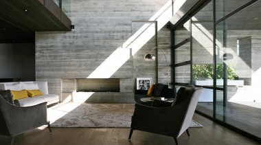 Westmere House - Westmere House - architecture   architecture, floor, house, interior design, living room, loft, table, gray, black