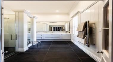 Classic Villa - Classic Villa - bathroom   bathroom, ceiling, floor, flooring, home, interior design, room, tile, wood flooring, white, black