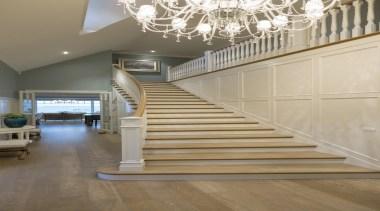 Stairway - architecture   baluster   ceiling   architecture, baluster, ceiling, daylighting, floor, flooring, handrail, hardwood, home, interior design, laminate flooring, lobby, stairs, wall, wood, wood flooring, orange, gray, brown