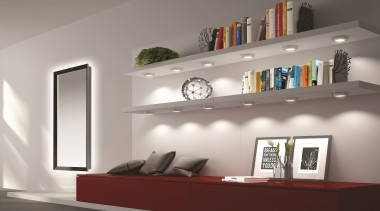 Designed in Italy to comply with Australian/New Zealand ceiling, furniture, home, interior design, product design, shelf, shelving, wall, gray