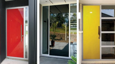 The glitz and glamour of a FIRST® Plasma door, house, real estate, window, black