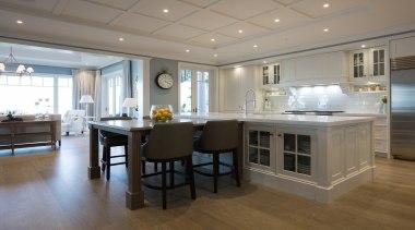 Living area - Living area - cabinetry   cabinetry, countertop, cuisine classique, floor, flooring, interior design, kitchen, real estate, room, gray