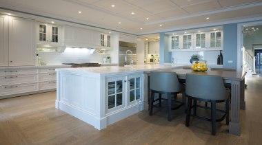 Kitchen - cabinetry   countertop   cuisine classique cabinetry, countertop, cuisine classique, estate, floor, flooring, home, interior design, kitchen, real estate, room, wood flooring, gray