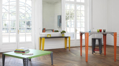 Meccano Home is a new collection from the chair, floor, flooring, furniture, home, interior design, living room, product, table, wood, white