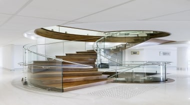 Atrium Homes - Atrium Homes - furniture   furniture, glass, product design, stairs, table, white, gray