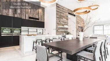 Runner-up – Studio Italia, Marketa Ramage – TIDA countertop, dining room, interior design, kitchen, table, white