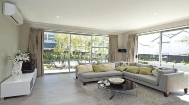 For more information, please visit www.gjgardner.co.nz estate, floor, home, house, interior design, living room, property, real estate, room, window, white, gray