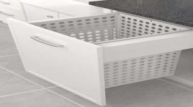 The Tanova Deluxe range offers pull out laundry furniture, product, product design, white, gray