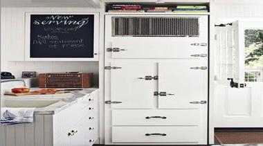 Vintage White Fridge - White Fridge - Vintage furniture, home appliance, kitchen, kitchen appliance, major appliance, refrigerator, white