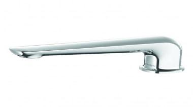 A modern twist to the popular minimalist look, bathtub accessory, hardware, plumbing fixture, product, tap, white