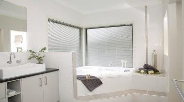 Harrisons Blinds & Shutters - Harrisons Blinds & bathroom, bathroom accessory, bathroom cabinet, curtain, floor, home, interior design, real estate, room, sink, window, window covering, window treatment, gray