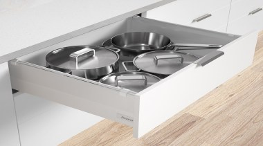 Drawer kit in classic white with soft close drawer, furniture, product, product design, tableware, white