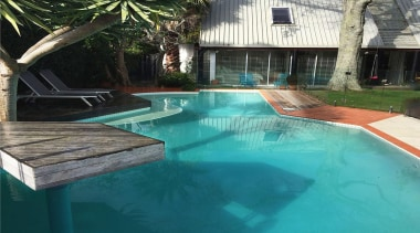 Gold Award recipient for Refurbished or Renovated Residential backyard, leisure, property, real estate, resort, swimming pool, water, teal