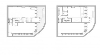 The South Fulham Conservative Club lies unoccupied close area, design, diagram, floor plan, line, plan, white