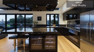 Highly Commended – Vekart, Tracy Murphy – TIDA countertop, interior design, kitchen, real estate, black