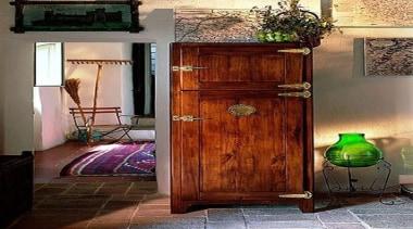 Vintage Looking Fridge - Vintage Looking Fridge - door, floor, flooring, furniture, hardwood, wood, wood stain, red