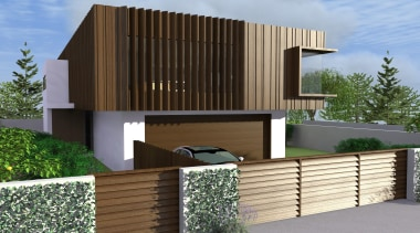 24 tiri concept hsuntitled path1 - Tiri Concept architecture, building, elevation, facade, fence, home, house, property, real estate, residential area, siding
