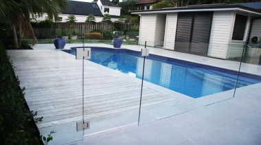 Gold Award recipient for Refurbished or Renovated Residential composite material, fence, handrail, leisure, outdoor structure, property, real estate, swimming pool, water, gray, black