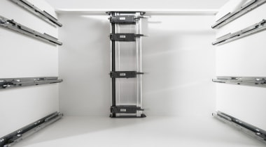 Ergonomic and efficient thanks to SERVO-DRIVE a quick product, shelf, shelving, structure, white