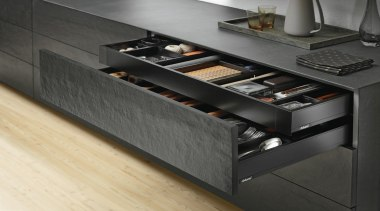 AMBIA-LINE inner dividing system – organization at its countertop, floor, furniture, kitchen, product, product design, black, gray