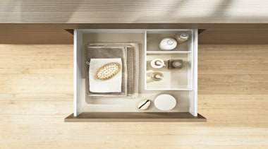 AMBIA-LINE inner dividing system – organization at its furniture, product design, shelf, yellow