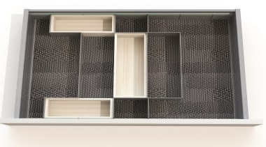 Open Space is a flexible drawer organizing system product, white, black