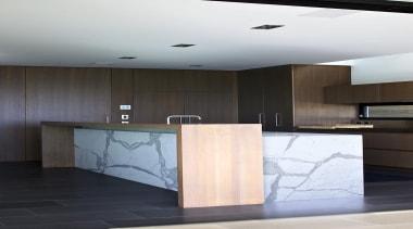 Box Island side - Island Statuary Vein - architecture, floor, furniture, interior design, product design, wall, black, white, gray