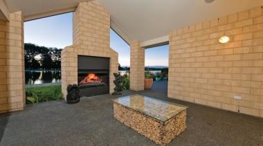 A large format block which makes an instant estate, interior design, living room, property, real estate, orange, brown