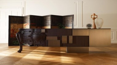 Many pieces of furniture mix traditional design with bed frame, chest of drawers, coffee table, drawer, floor, flooring, furniture, hardwood, interior design, laminate flooring, living room, product, sideboard, table, wood, wood flooring, wood stain, white, brown
