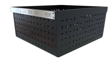 Tanova Ventilated Drawer in Custom Colour Black - plastic, product, product design, black, white