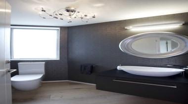 Bathroom design by Yellowfox - Bathroom - bathroom bathroom, ceiling, floor, home, interior design, plumbing fixture, product design, room, sink, toilet seat, gray, white, black
