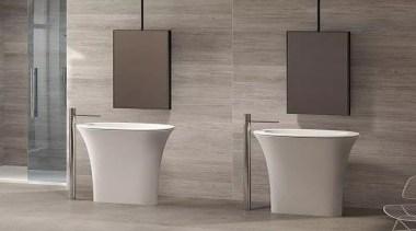 Karim - bathroom | bidet | ceramic | bathroom, bidet, ceramic, floor, plumbing fixture, product design, sink, tap, toilet, gray
