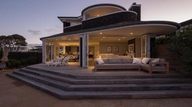 2b exterior after - Exterior After - estate estate, home, house, lighting, property, real estate, villa, black